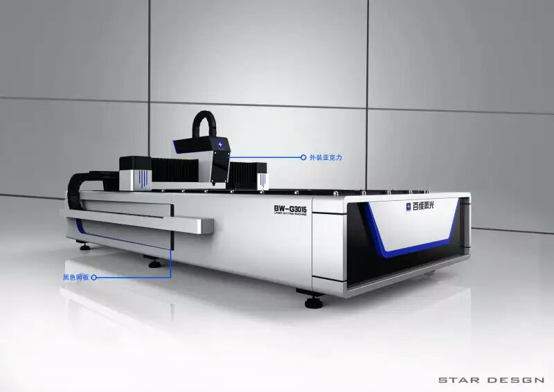 500W双驱动光纤激光切割机